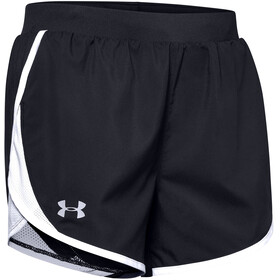 Under Armour Fly By 2.0 Shorts Women, black-white